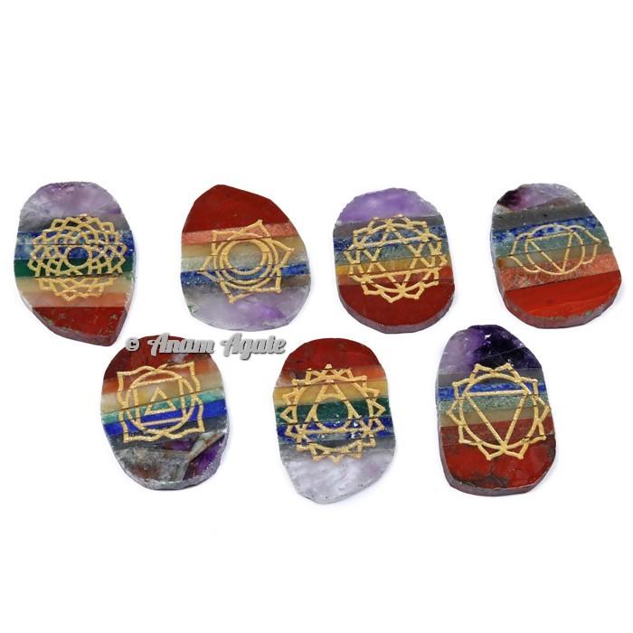 Bonded Seven Chakra Irregular Shape