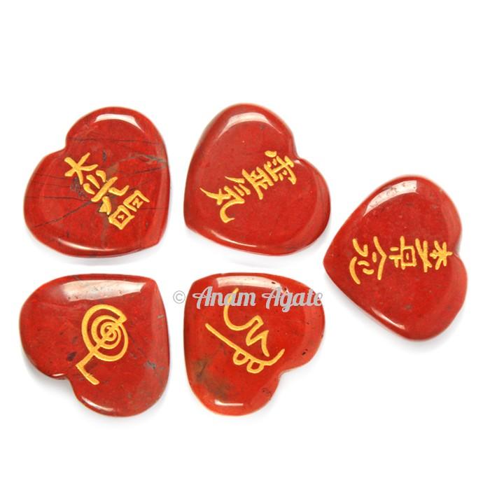 Red Japer Heart Reiki Set
