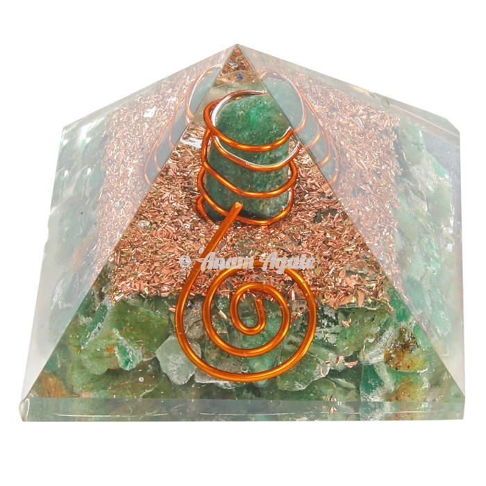 Green Aventurine Orgonite Pyramid
