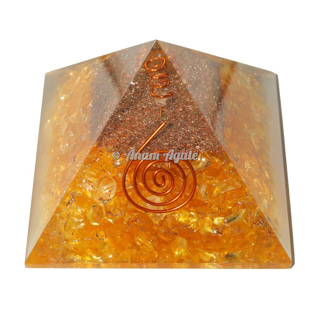 Citrine Orgonite Pyramid