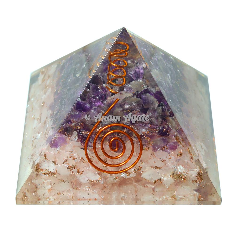 Rose And Amethyst Orgonite Pyramid