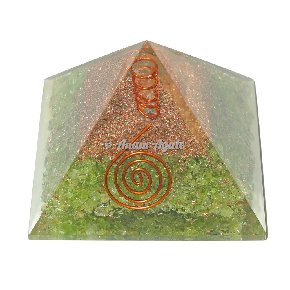 Peridot Orgonite Pyramid
