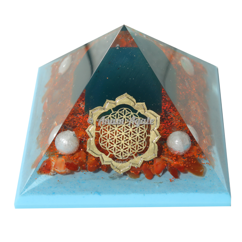 Red Carnelian Orgonite Pyramid