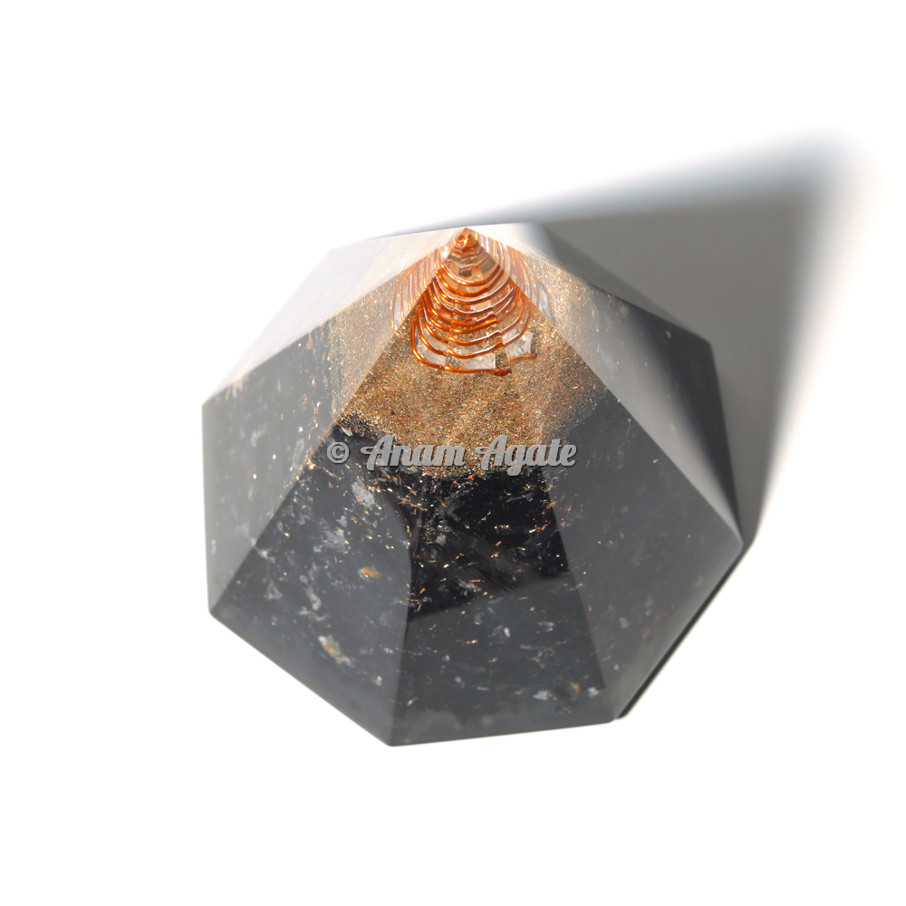 Conical Black Tourmaline Orgonite Pyramid