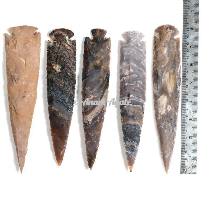 Agate Arrowheads 8 Inches