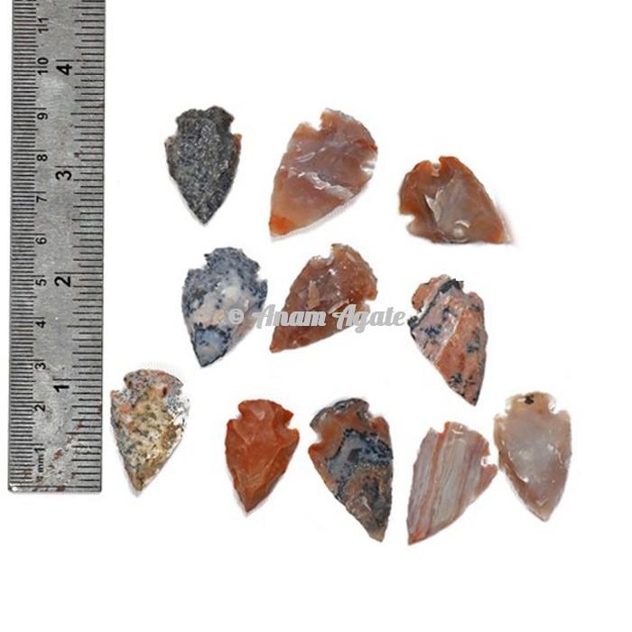 Agate Arrowheads 1  Inches