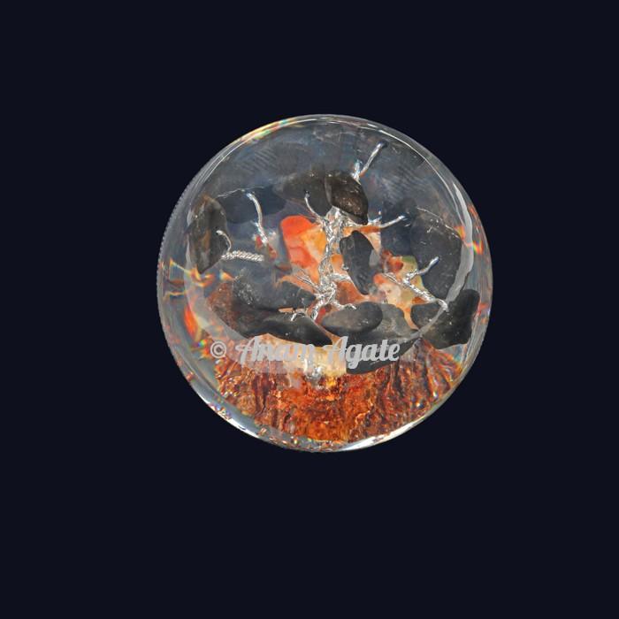 Orgonite Ball with Tree Tourmaline Paper Weight