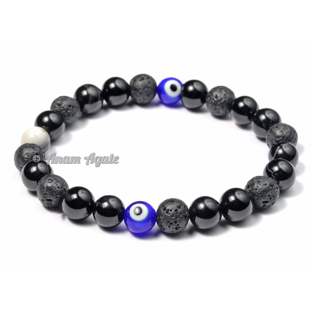 Chakra Bracelets with 2 Evil Eye Beads