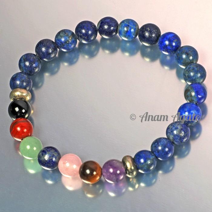 Lapis Lazuli With Chakra Beads Bracelets