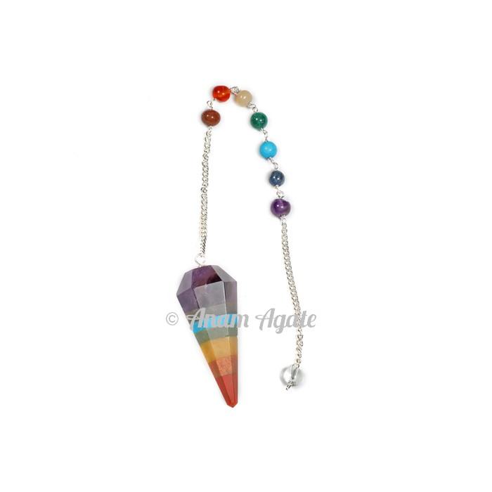 7 chakra Bonded Pendulums With Turquoise Chakra Chain