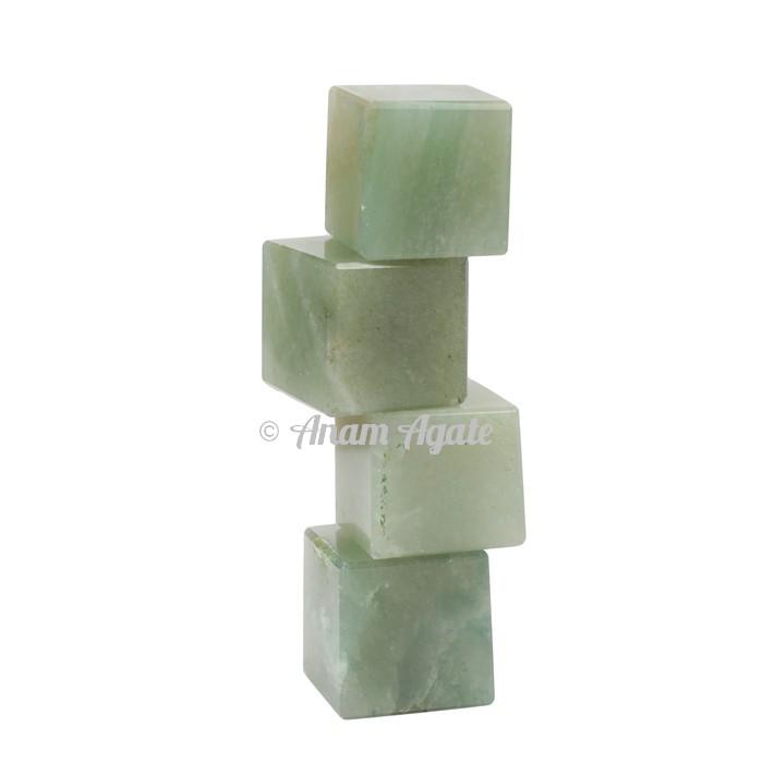 Green Aventurine Cubes