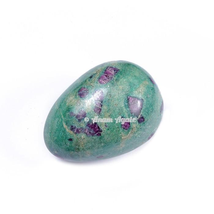 Ruby Fuchsite Gemstone Egg