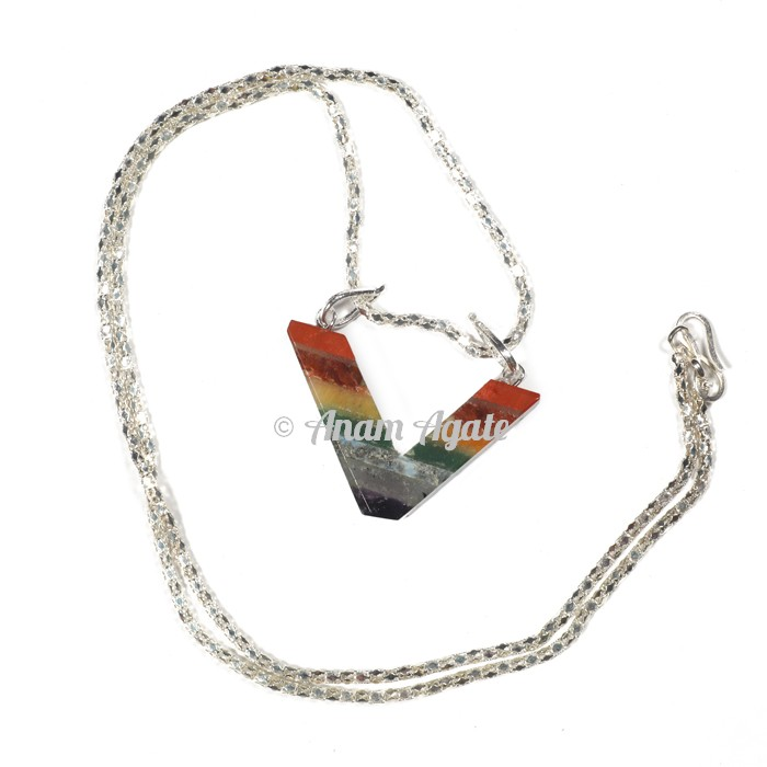 Chakra Bonded V Necklace