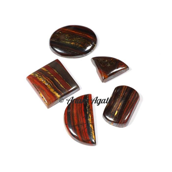 Iron Tiger Eye Gemstone Cabochons