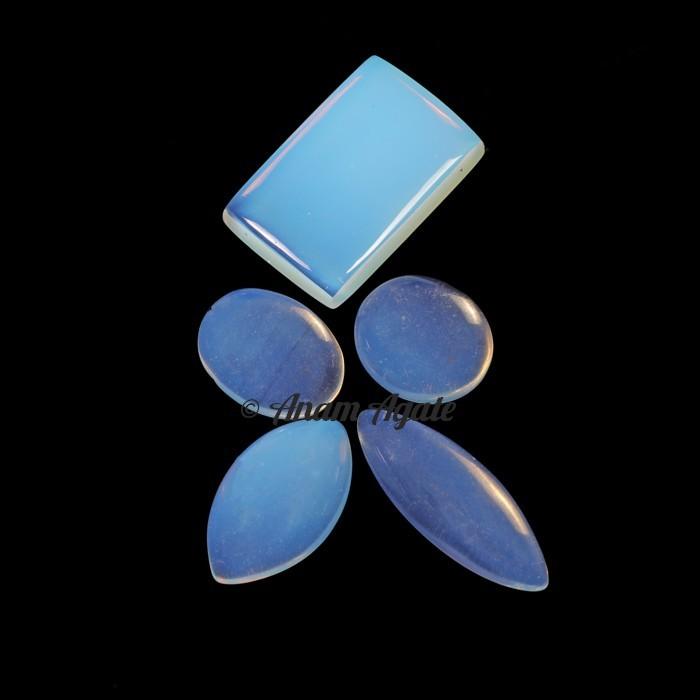 Opal Glass Gemstone Cabochons