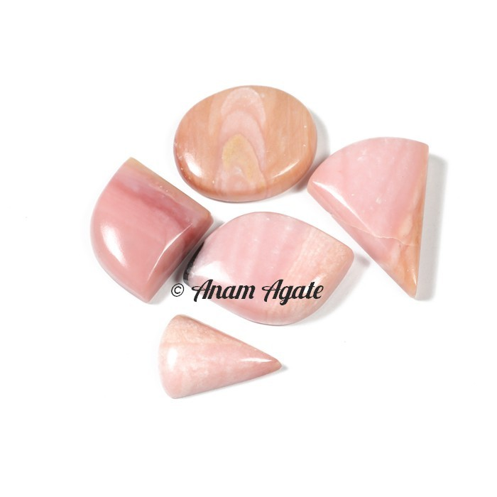 Pink Opal Gemstone cabochons