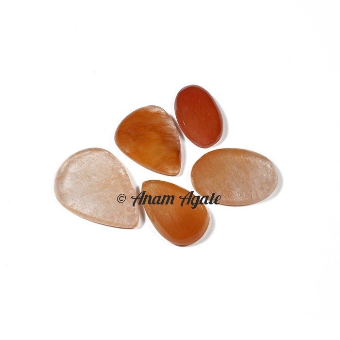 Copper Rutile Gemstone cabochons