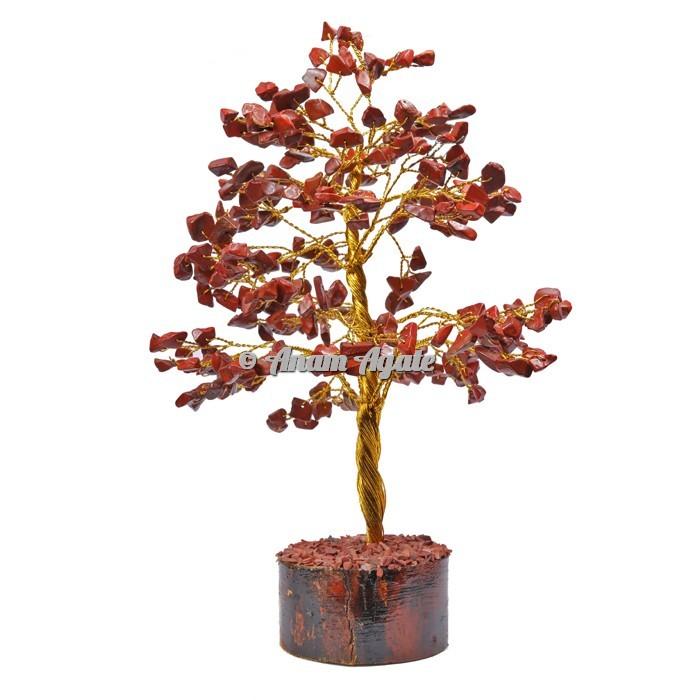 Red Jasper 300 Chips Golden Wire Tree