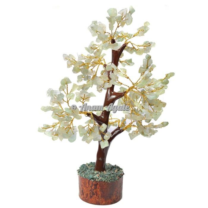 Green Aventurine Mseal 300 Chips  Golden Wire Tree