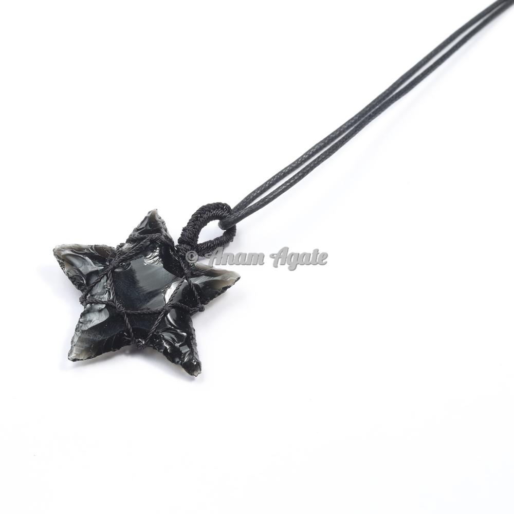 Macrame Wrapped Star Pendant