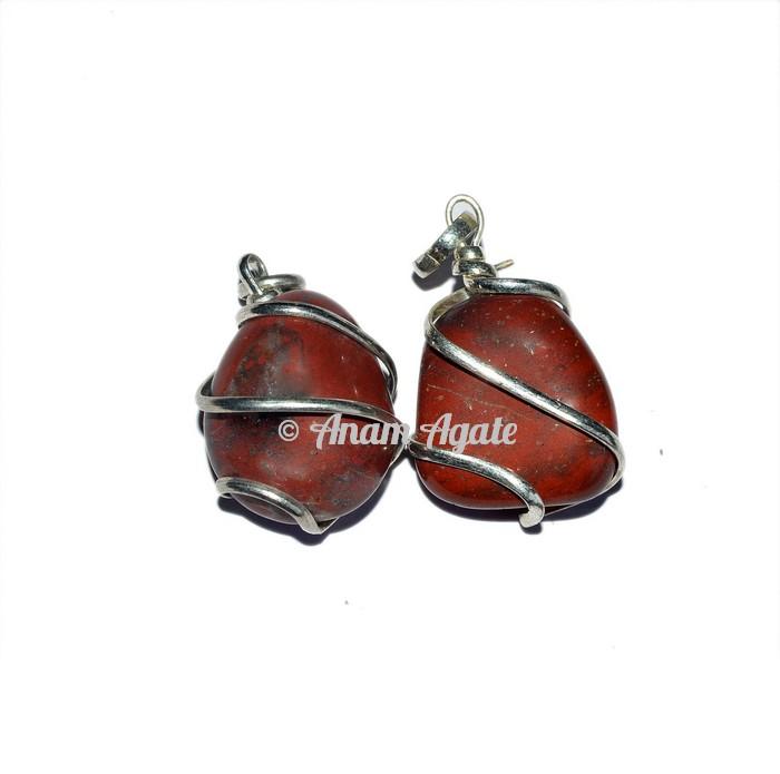 Red Jasper Tumbled Pendants