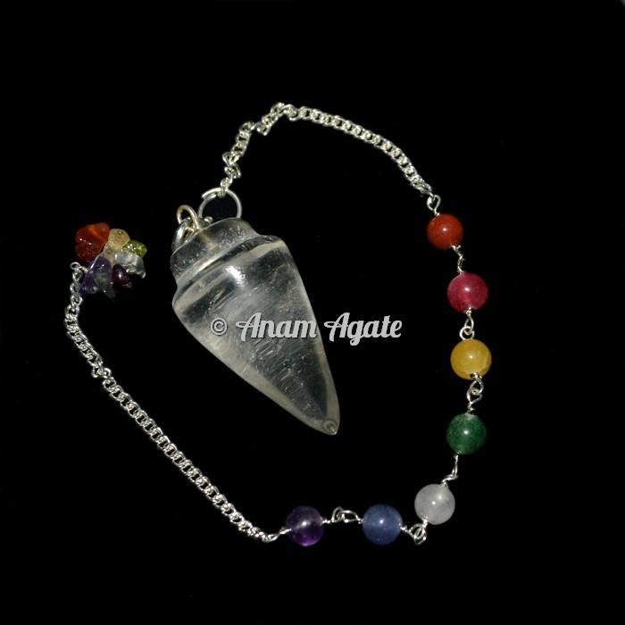 Crystal Quartz Bullet Chakra Pendulums