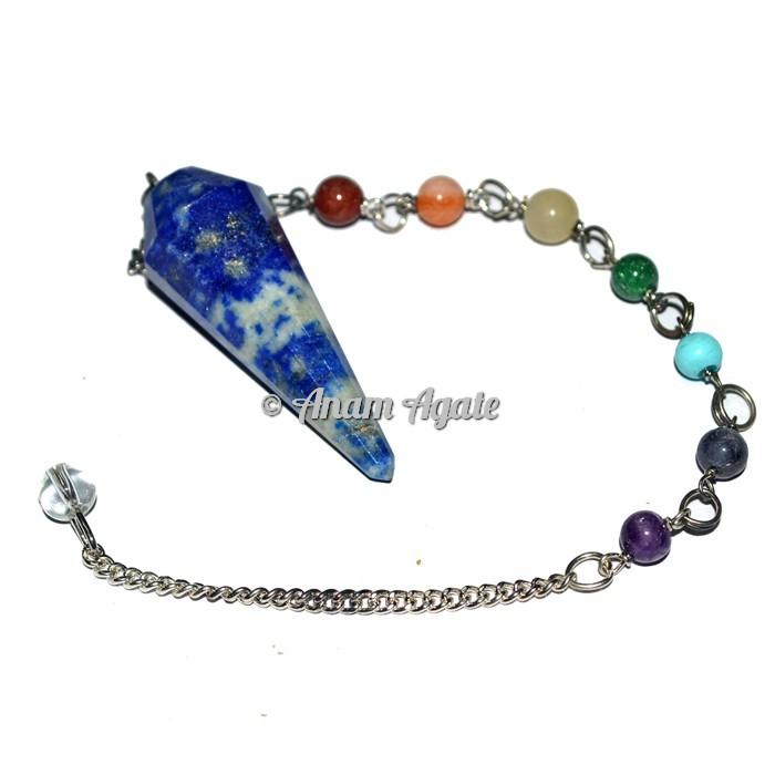 Lapis Lazuli 12faceted chakra pendulums