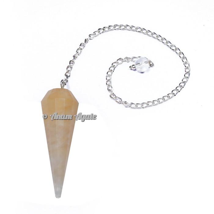 Golden Quartz 12 Faceted Pendulums