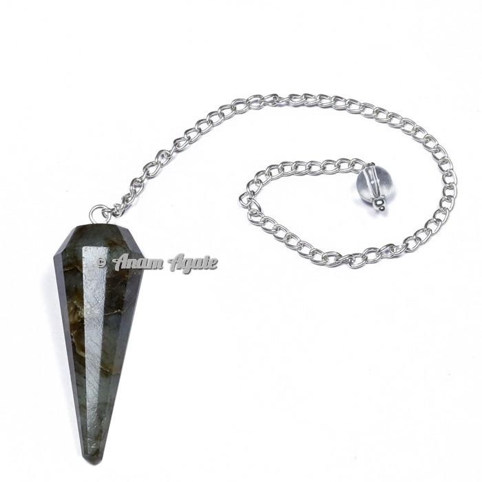 Labradorite 12 Faceted Pendulums