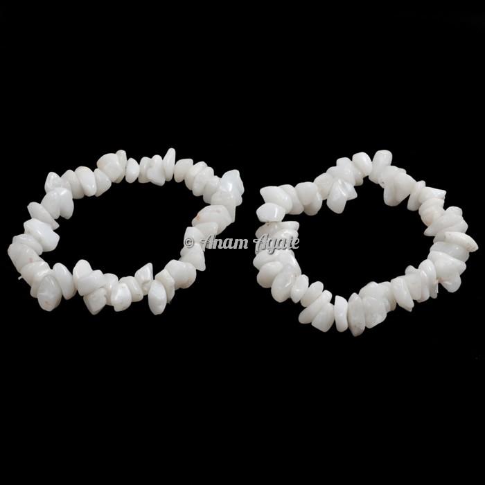 White Quartz Chips Bracelets
