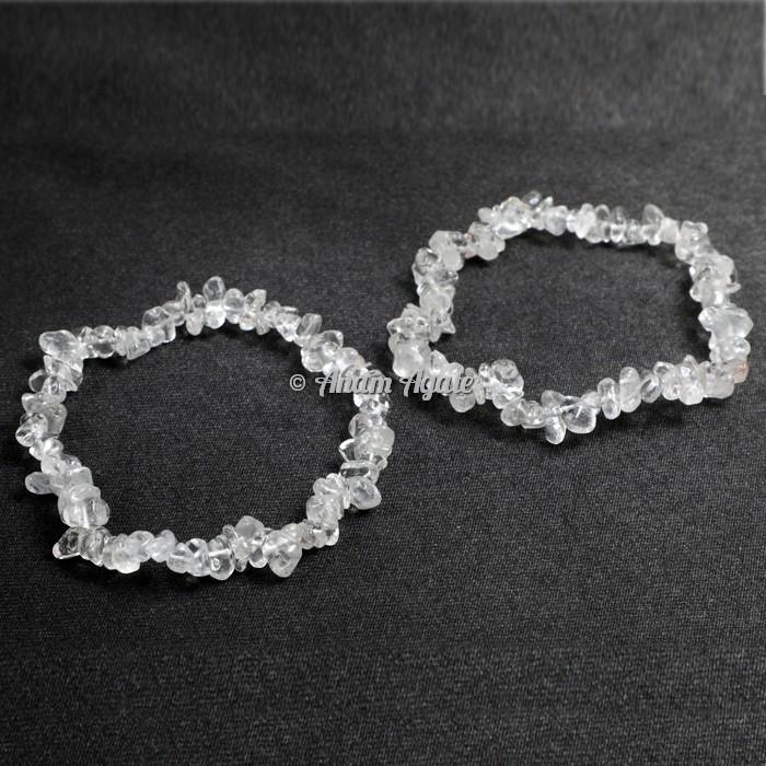 Clear Quartz Chips Bracelets