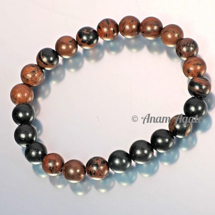 Brown and Black Jasper Bracelets