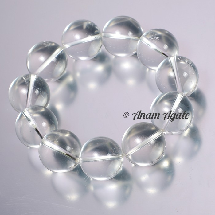 Crystal Quartz Big Sizes Bracelets