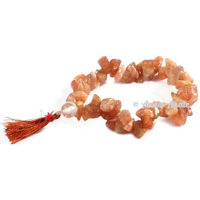 Peach Aventurine Power Chips Bracelets