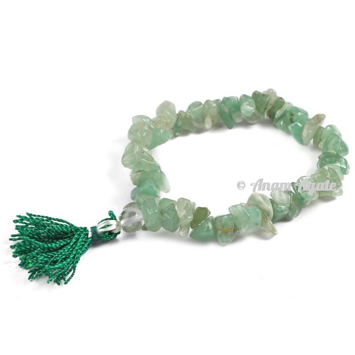 Green Aventurine Power Chips Bracelets