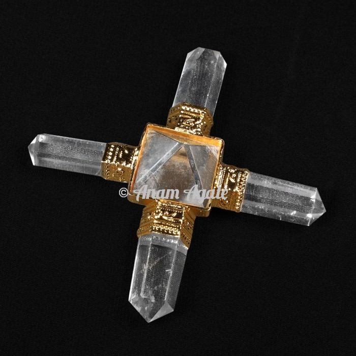 Crystal Quartz Pyramids Generator Golden