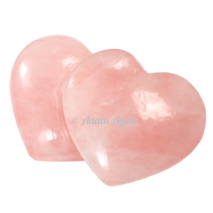 Rose Quartz Gemstone Hearts