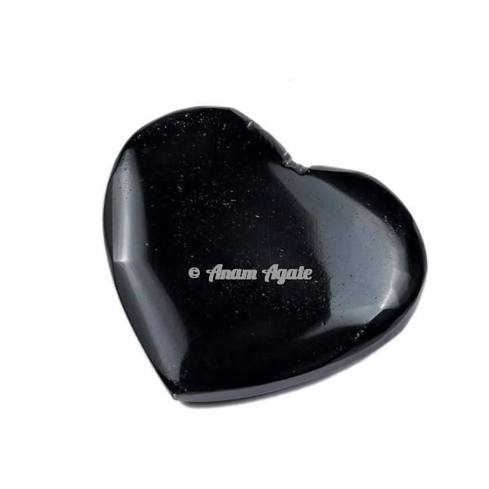 Black Obsidian Gemstone Heart
