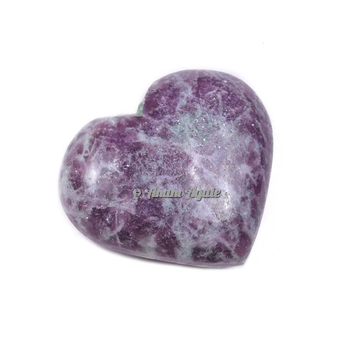 Lepidolite Gemstone Heart