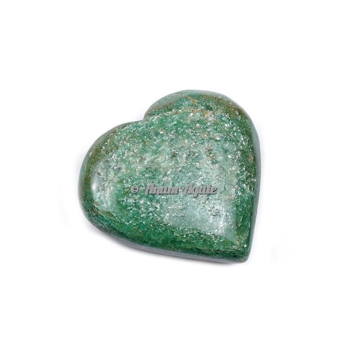 Green Jade Gemstone Heart