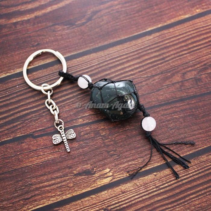 Bloodstone Keychain Charms