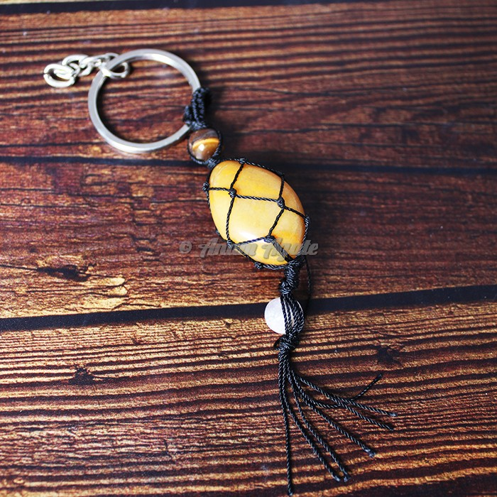 Yellow Jasper Keychain Charms