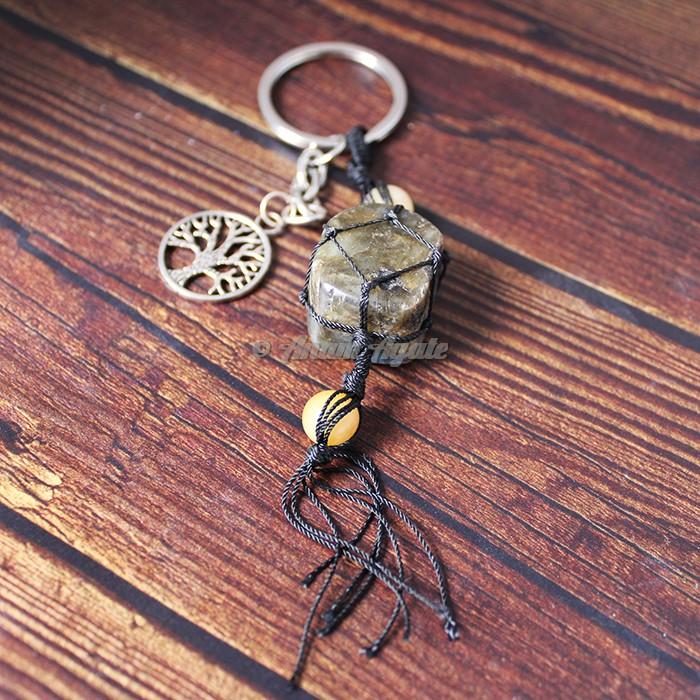 Labradorite Keychain Charms