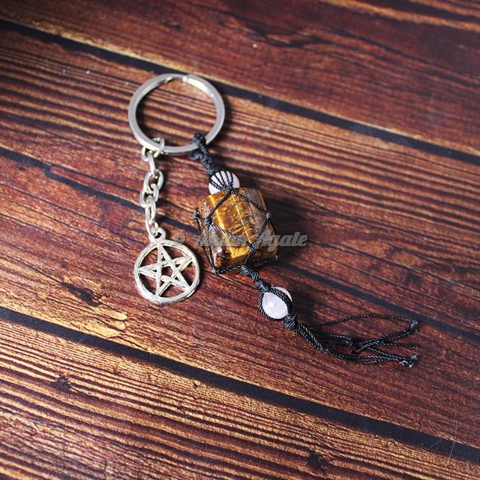 Tiger Eye Keychain Charms