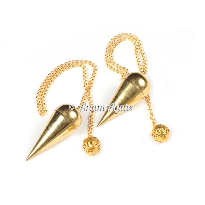 Golden Brass Plane Pendulums