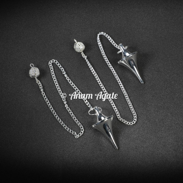 Silver Brass Cone Dowsing Pendulums