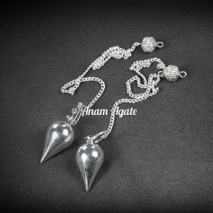 Silver Drop Dowsing Pendulums