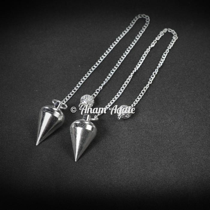 Drop Shape Silver Brass Pendulums