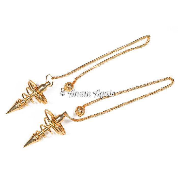 Golden Spiral Metal Pendulums
