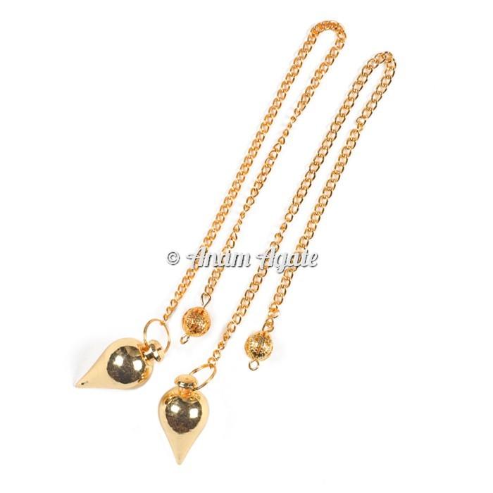 Golden Drop Brass Pendulums